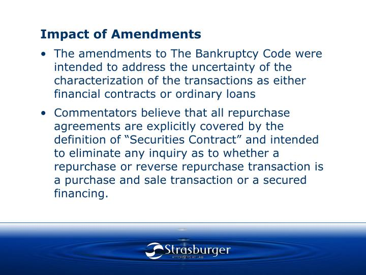 Impact of Amendments