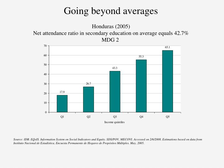Going beyond averages