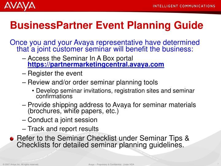 BusinessPartner Event Planning Guide