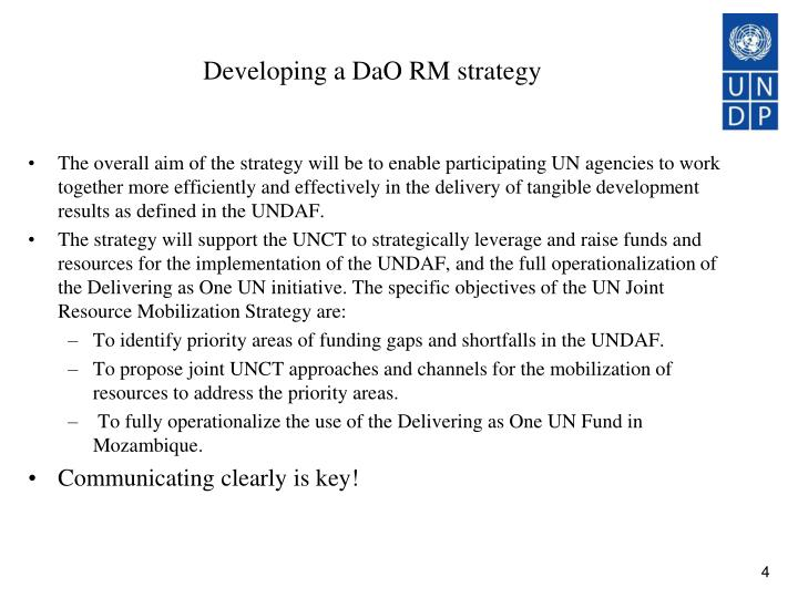 Developing a DaO RM strategy