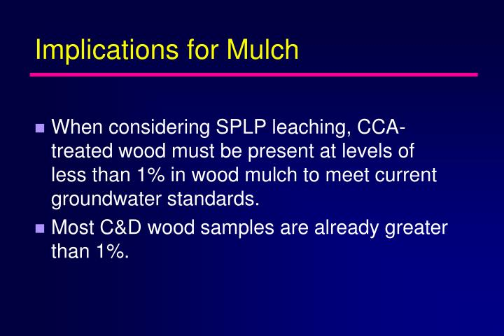 Implications for Mulch