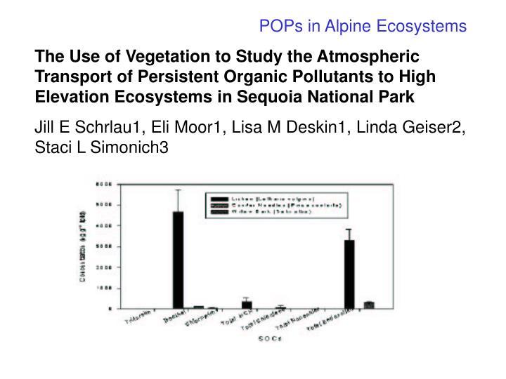 POPs in Alpine Ecosystems