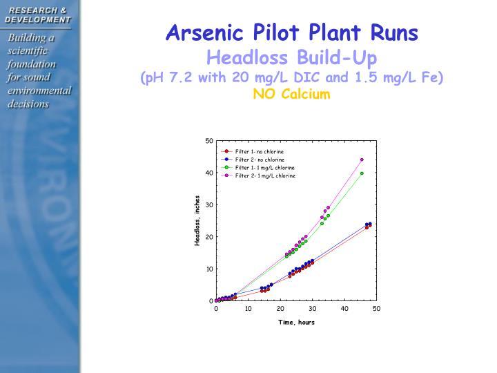 Arsenic Pilot Plant Runs