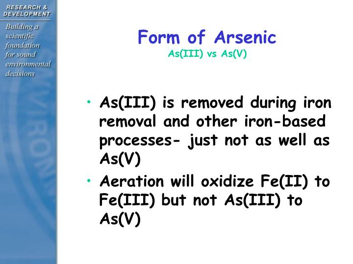 Form of Arsenic
