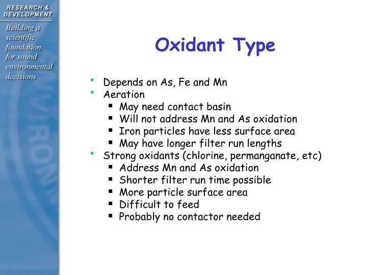 Oxidant Type