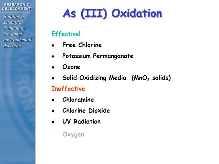 As (III) Oxidation