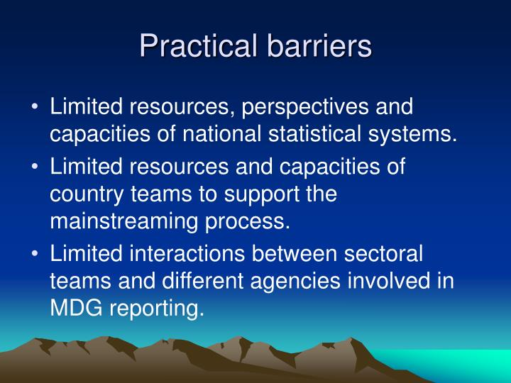 Practical barriers