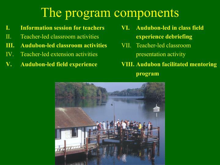 The program components