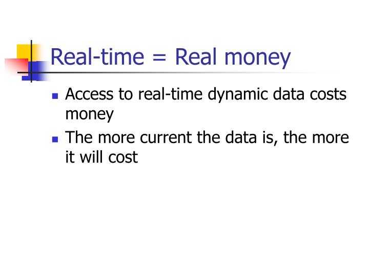 Real-time = Real money