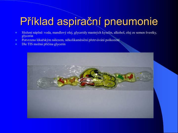 Příklad aspirační pneumonie