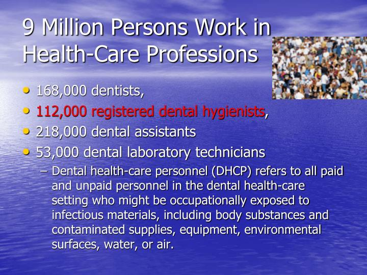 9 Million Persons Work in Health-Care Professions