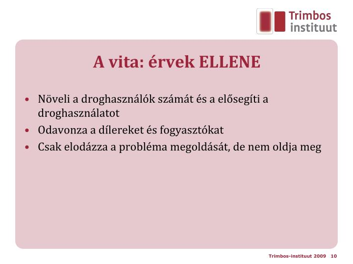 A vita: érvek ELLENE