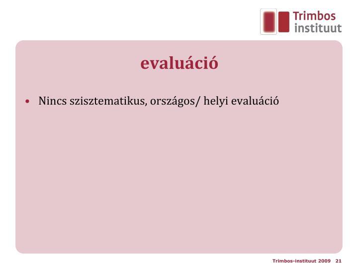 evaluáció