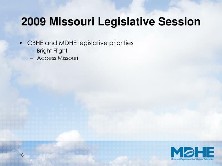 2009 Missouri Legislative Session