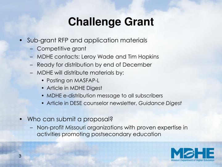 Challenge Grant