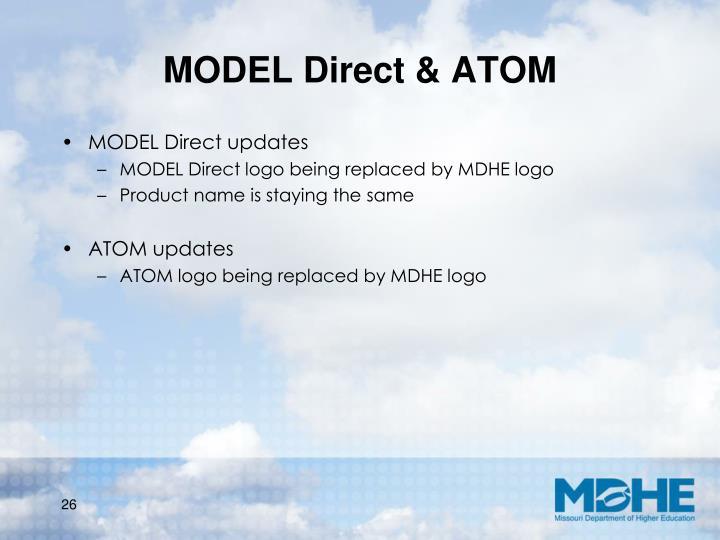 MODEL Direct & ATOM