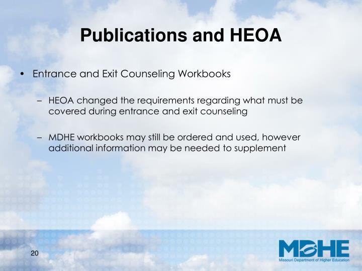 Publications and HEOA