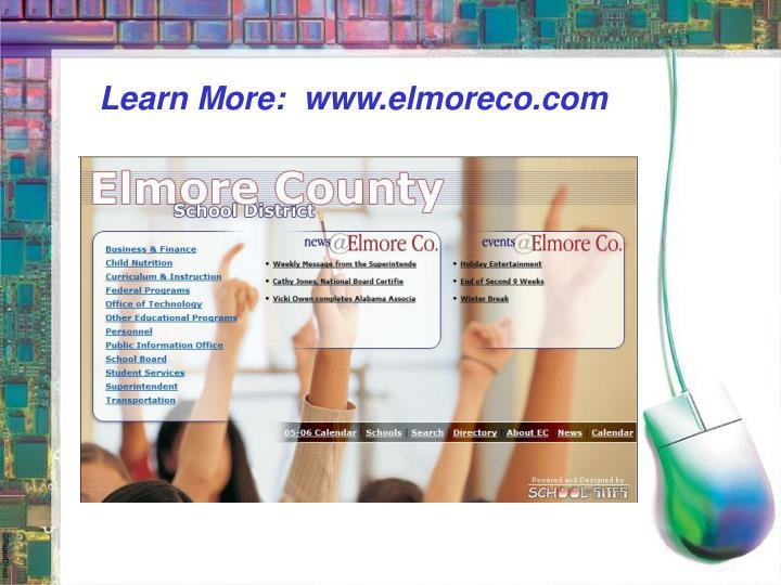 Learn More:  www.elmoreco.com