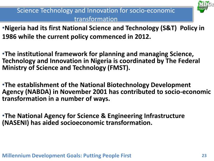 Science Technology and Innovation for