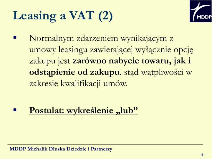 Leasing a VAT (2)