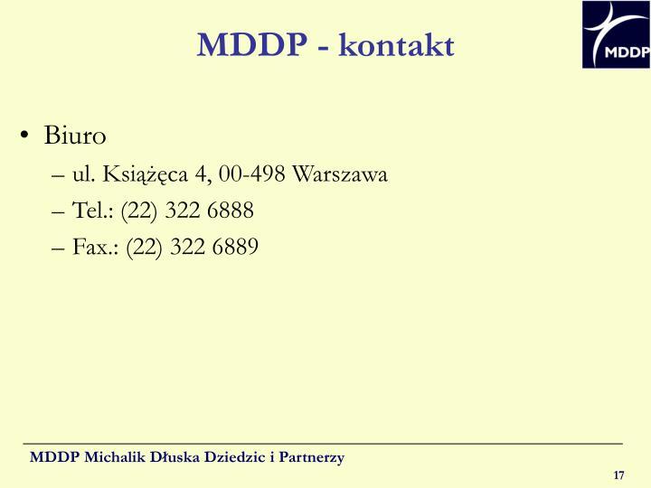 MDDP - kontakt