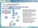 national mdg methodology workshop
