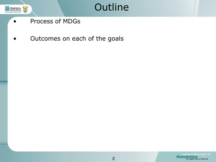 Process of MDGs