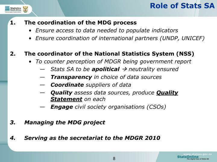 Role of Stats SA