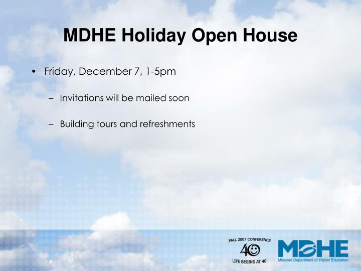 MDHE Holiday Open House