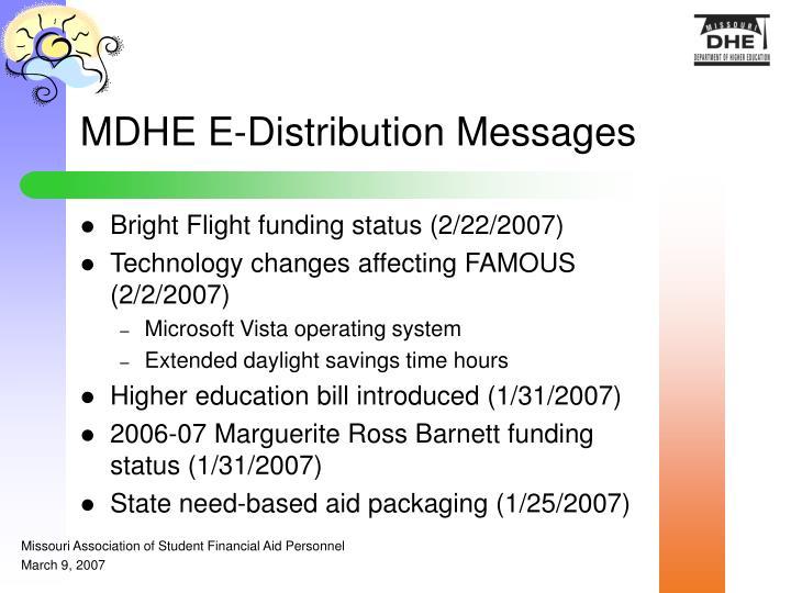 MDHE E-Distribution Messages