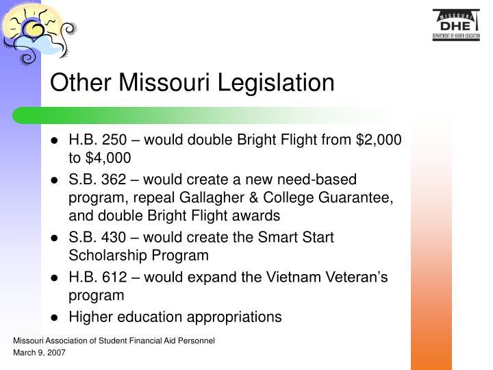 Other Missouri Legislation