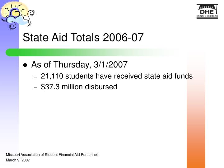 State Aid Totals 2006-07