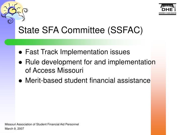 State SFA Committee (SSFAC)