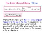 two types of correlations ks law