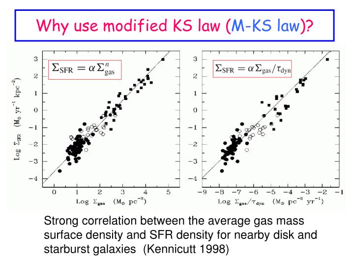Why use modified KS law (