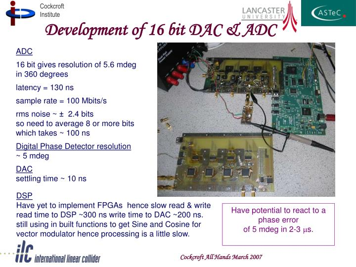 Development of 16 bit DAC & ADC