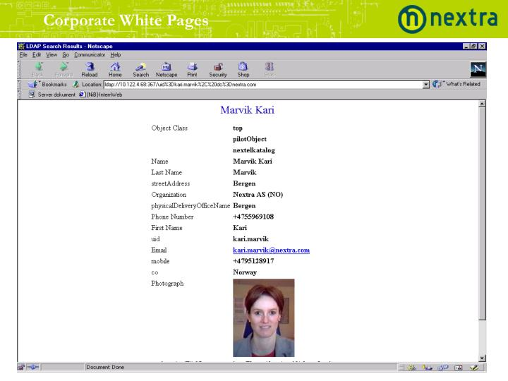 Corporate White Pages
