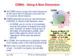 cdma using a new dimension