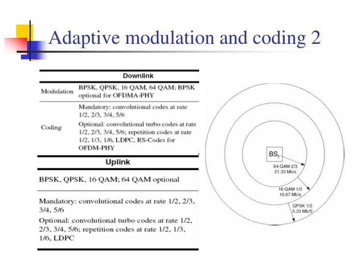 Adaptive modulation and coding 2