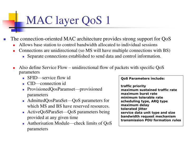 MAC layer QoS 1