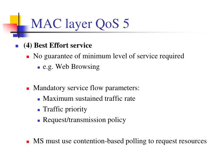 MAC layer QoS 5