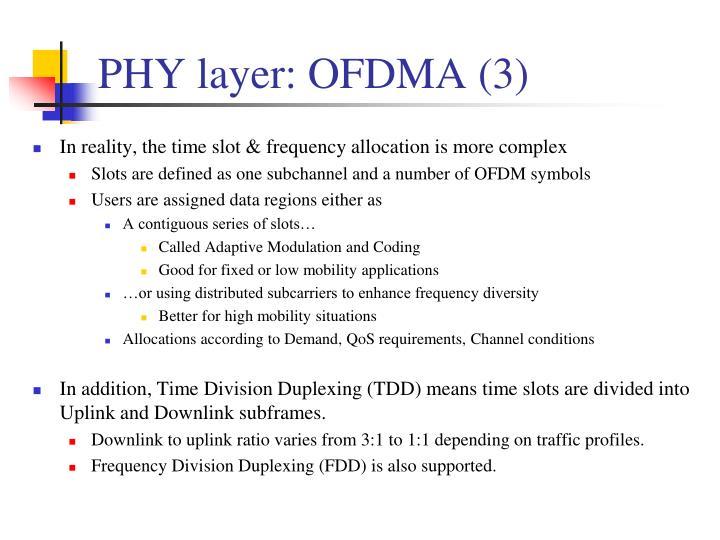 PHY layer: OFDMA (3)
