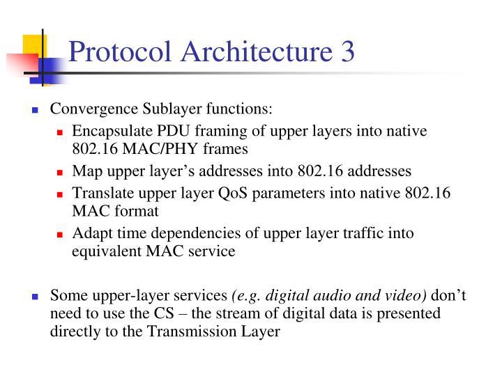 Protocol Architecture 3