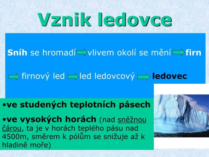 Vznik ledovce