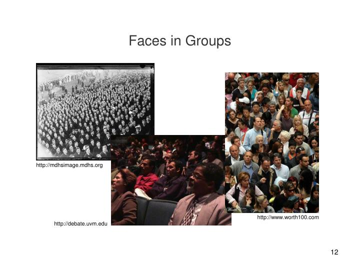 Faces in Groups