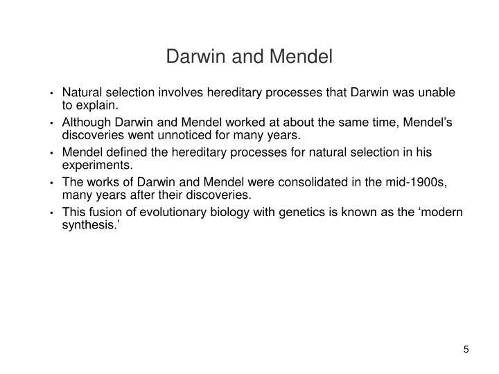 Darwin and Mendel