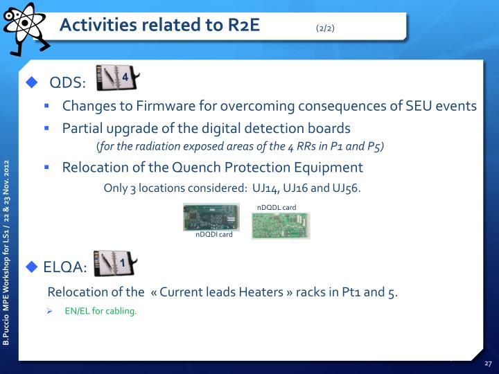 Activities related to R2E