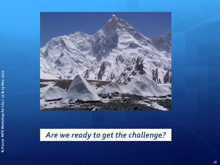 Are we ready to get the challenge?