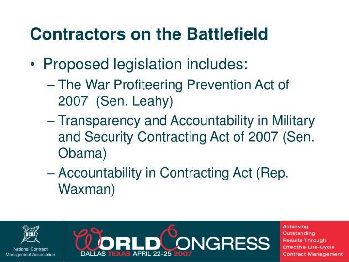 Contractors on the Battlefield