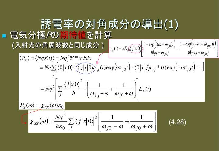 誘電率の対角成分の導出